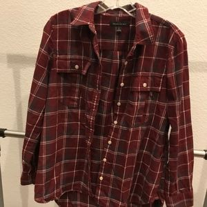 Red Plaid Banana Republic Button Up Long Sleeve